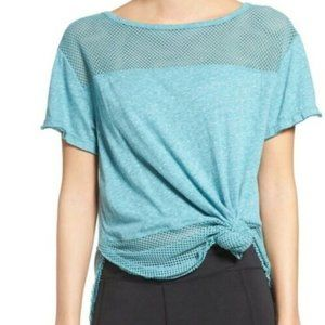 Free People Hourglass Mesh Tee Blue Size XS